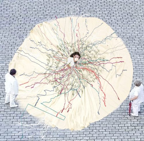 PTS Pandemic performance installation, by Regina Frank